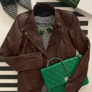 Zara Lambskin Leather Jacket
